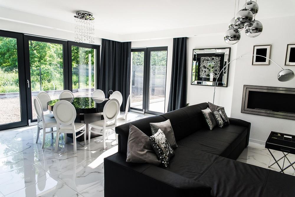 Salon Jadalnia Glamour I Morgan Interior Design